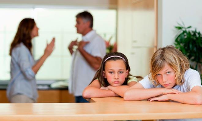 Родители ругаются из-за детей