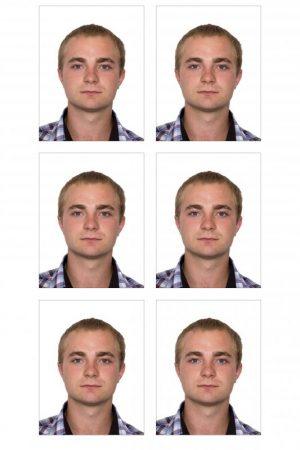 Образец фотографии на паспорт