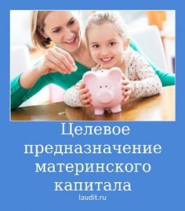 Целевое предназначение материнского капитала
