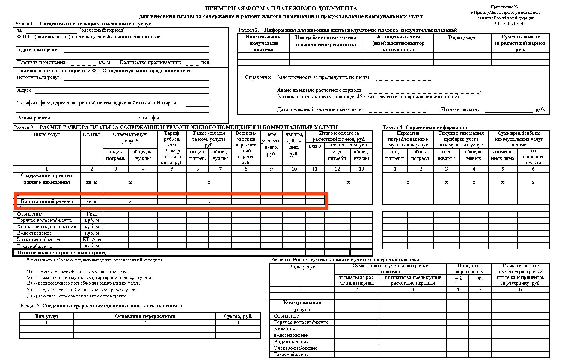Взносы на капремонт в едином платежном документе (ЕПД)