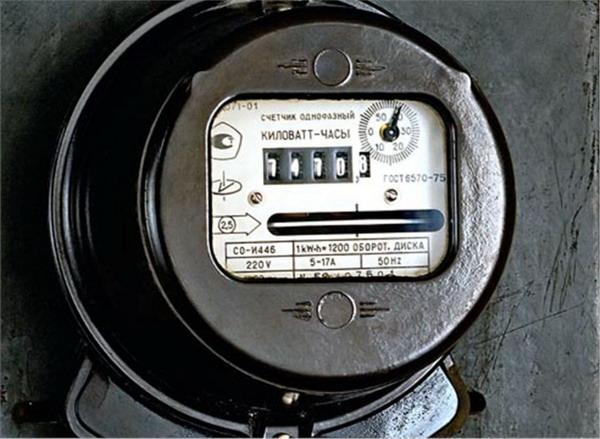 Индукционный электрический счетчик