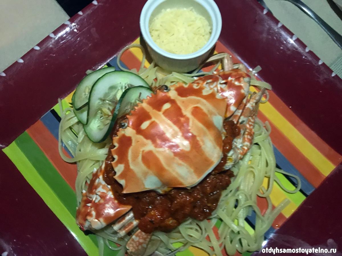 блюдо из краба на Филиппинах