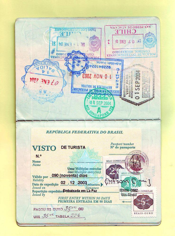 Паспорт с бразильской визой