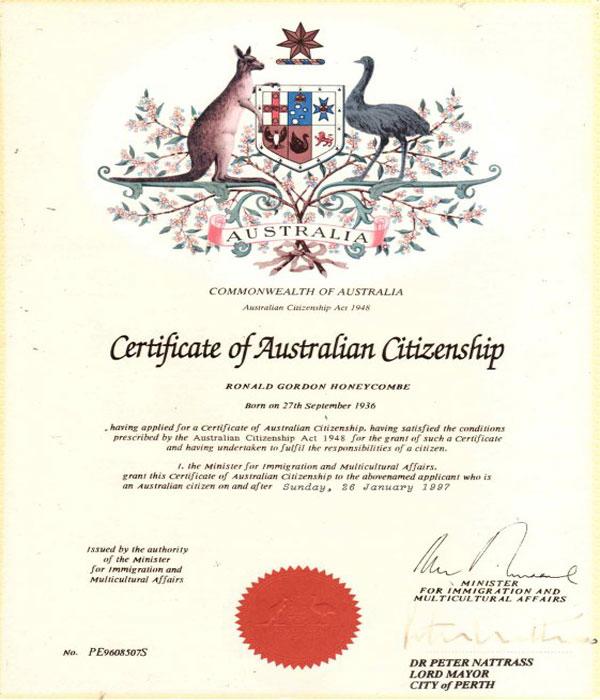 Специальный сертификат о статусе